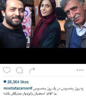 تبریک بازیگران مشهور به نوید محمد زاده و پریناز ایزدیار برندگان سیمرغ 34 ام تصاویر
