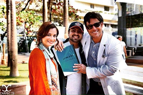 عکس های جدید پشت صحنه فیلم سلام بمبئی با حضور محمدرضا گلزار و دیا میرزا