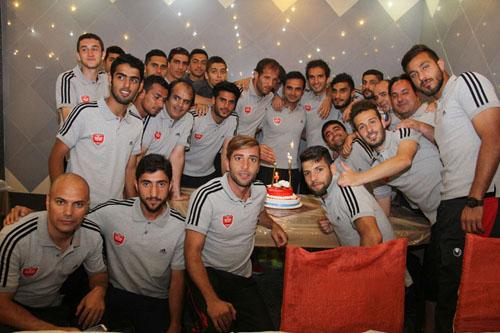 جشن تولد هادی نوروزی، بازیکن پرسپولیس در هتل سرعین