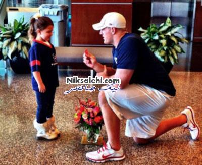 ازدواج فوتبالیست مشهور با دختر 6 ساله