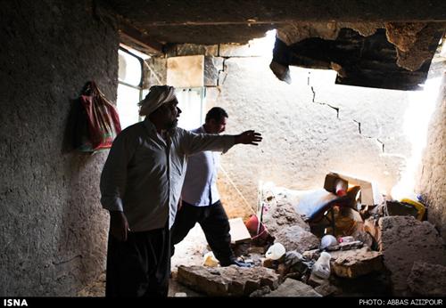 تصاویر جدید از منطقه زلزله زده ایلام و مردم خسارت دیده و مصدوم