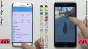 گوشی گلکسی اس ۷ یا آیفون ۶s پلاس , کدام سرعت بیشتری دارد؟+تصویر