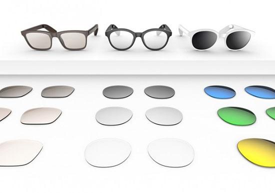 عینک هوشمند Vue که از طریق بلوتوث به گوشی وصل میشود تصاویر