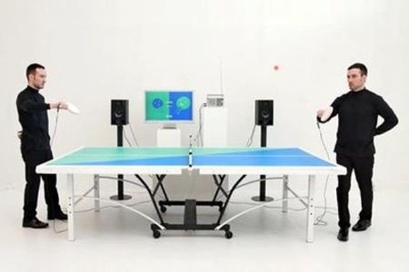 اختراع میز پینگ پونگی که بلندگوی پخش موسیقی میشود+تصاویر