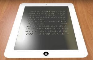 اختراعی بسیار کاربردی برای نابینایان این بار تبلت نابینایان +تصاویر