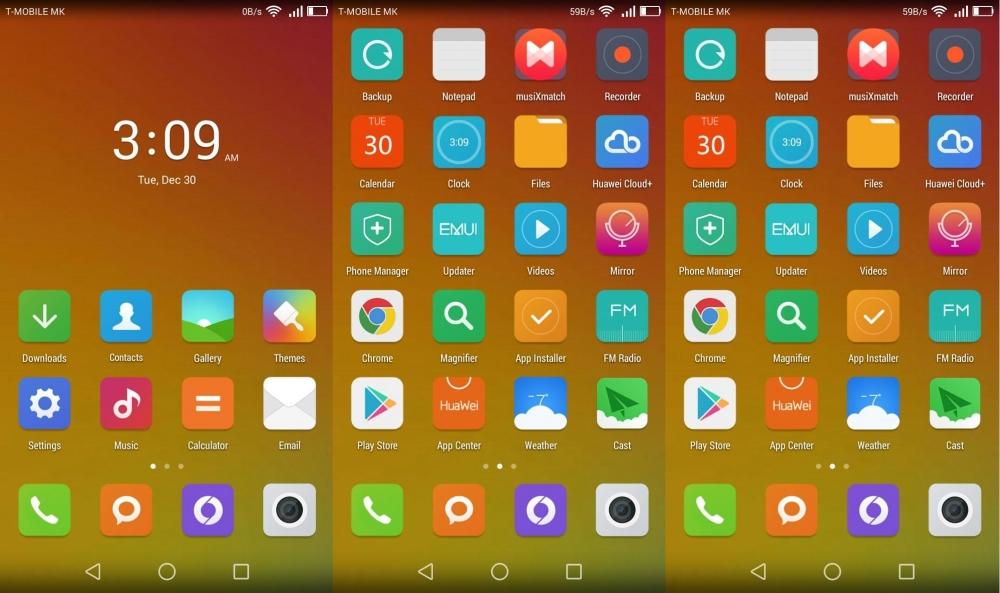 7 تم زیبا برای گجت های هوآوی دارای رابط کاربری Emotion UI 3.0  تصاویر