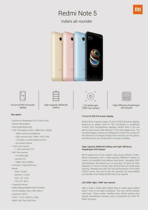 مشخصات Note 5 Pro