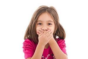 مقابله بابوی نامطبوع دهان کودکان