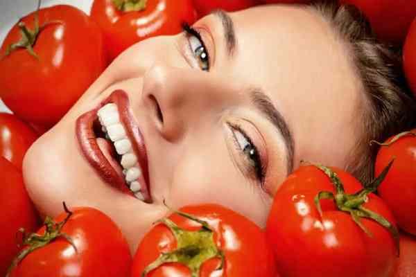 گوجه فرنگی و پوست صورت