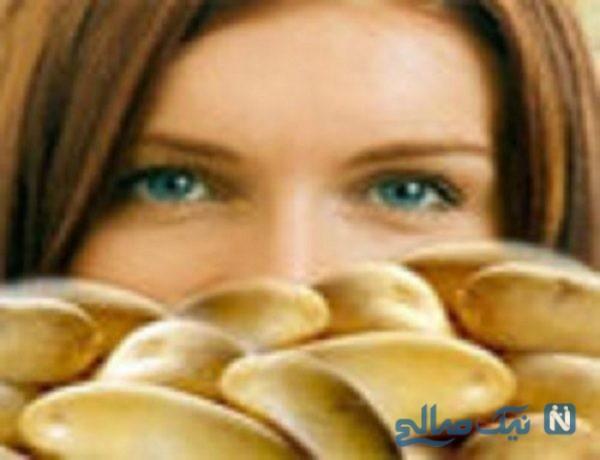 معجزه سیب زمینی برای زیبایی پوست و مو
