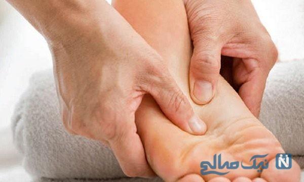 ماساژ پا برای رفع خستگی