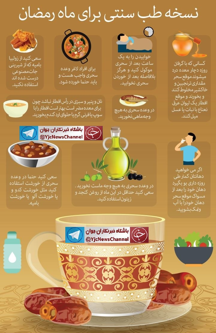 توصیه های پزشکی برای تغذیه روزه داران