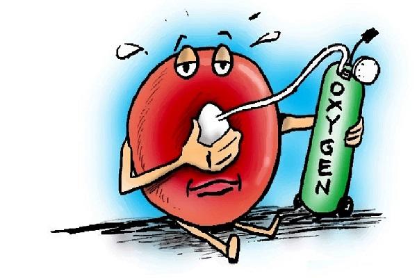 کمبود اکسیژن در خون