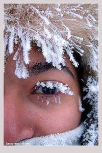چهره زیبای یخ زده زن سوئدی (عکس)