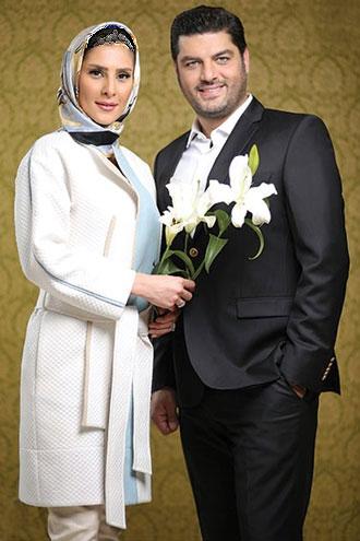 سام درخشانی و همراهی همسری آرام و مهربان+تصاویر
