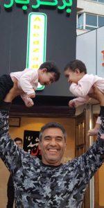 شوخی خطرناک و عجیب احمدرضا عابدزاده با دو کودک!+عکس