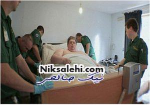 چاق ترین مرد جهان و زندگی عجیبش+ عکس