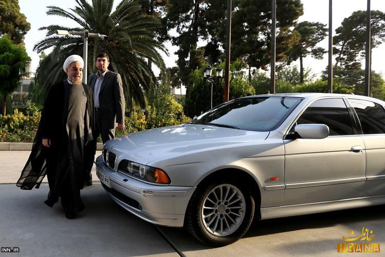 روحانی با چه خودرویی به مجلس رفت؟ /عکس