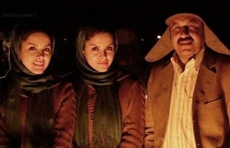 رضا عطاران در کنار خواهران دوقلوی سینما!+عکس