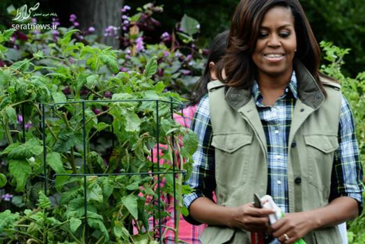 کشاورزی باراک اوباما و همسرش در کاخ سفید!+تصاویر