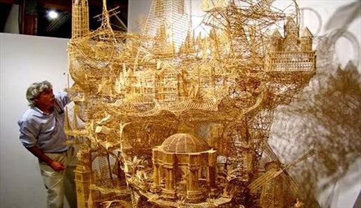 این مرد ۳۵ سال از عمرش را صرف ساخت این ماکت کرد/تصویر