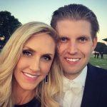 پسر ترامپ در کنار همسرش در افتتاحیه زمین گلف