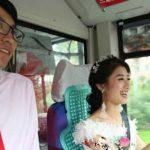 ماشین عروس جالب در چین نظر همه را جلب کرد!