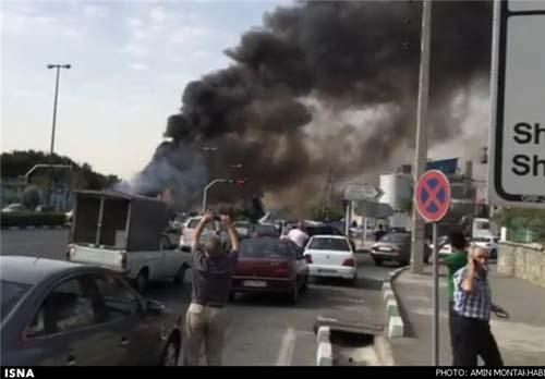 سقوط هولناک هواپیمای مسافربری در غرب تهران و کشته شدن ۴۰ مسافر این پرواز + تصاویر
