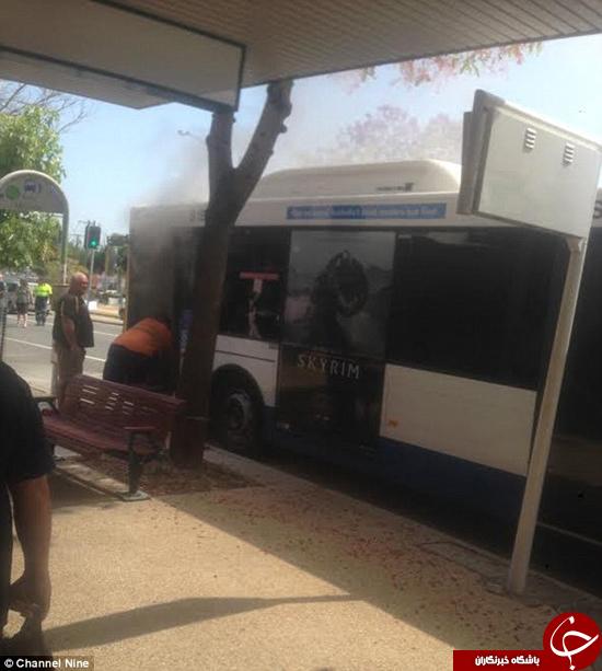 در اقدامی هولناک مرد روانی راننده اتوبوس را آتش زد