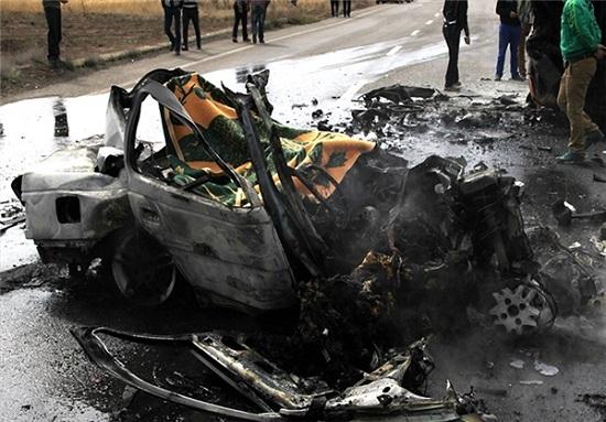 جزییات حادثهای تلخ و دلخراش در جاده سلماس/ ۴ مسافر نوروزی در آتش سوختند + تصاویر