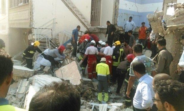 انفجار هولناک گاز شهری در یک مجتمع مسکونی در اهواز با ۶ کشته + تصاویر