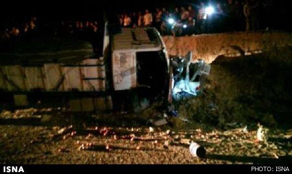تصادف دلخراش و مرگبار پراید با کامیون + تصاویر