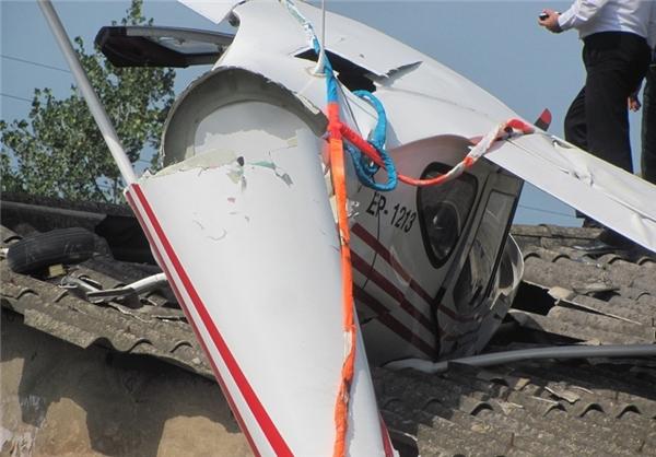 سقوط هواپیما در فرودگاه رامسر + تصاویر