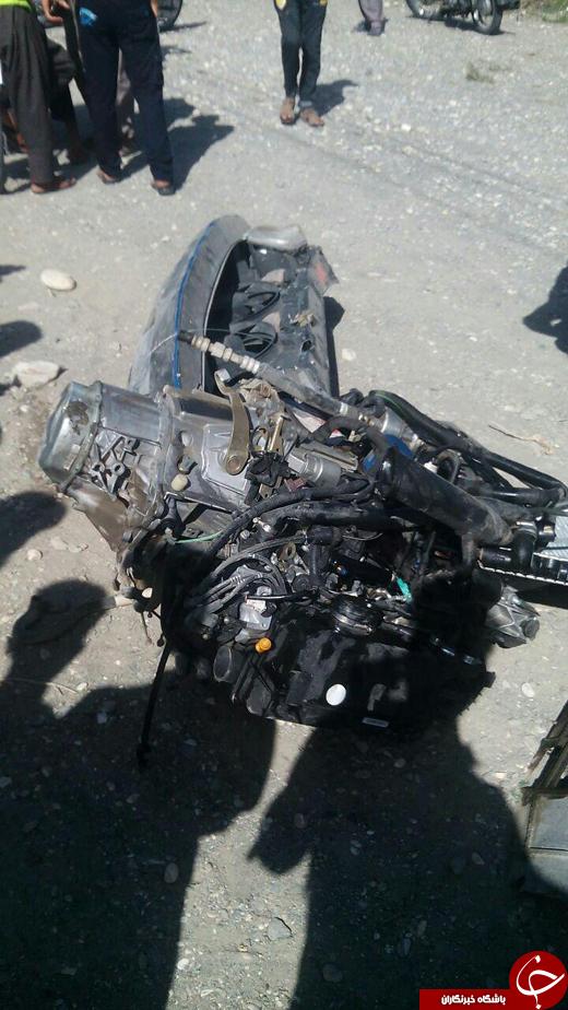 تصادف وحشتناک ۴۰۵ دو کشته بر جای گذاشت + تصاویر
