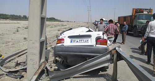 عاقبت پراید پس از تصادف با خودروی مدل بالا + تصاویر