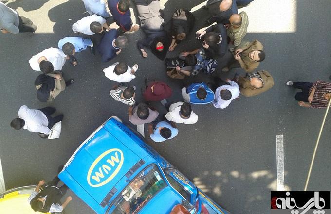 خودکشی دختر ۱۷ساله در خیابان حافظ +عکس