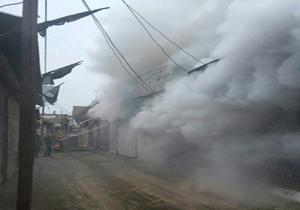آتشسوزی در بازار همدان + عکس