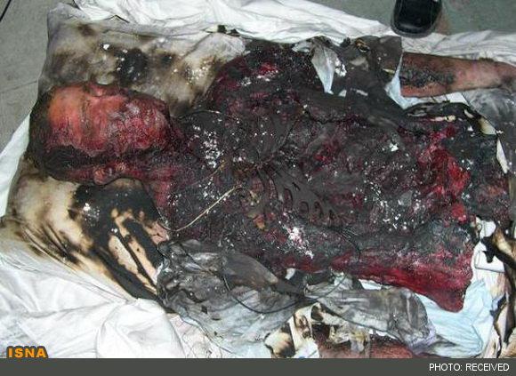 عکس/ کشف جسد سوخته در جاده مخصوص کرج (۱۶+)
