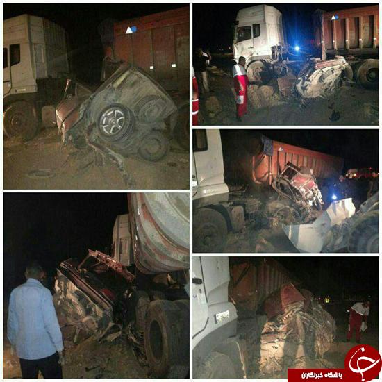 مرگ دردناک یک خانوداده ۶ نفره در جاده شهرضا + تصاویر