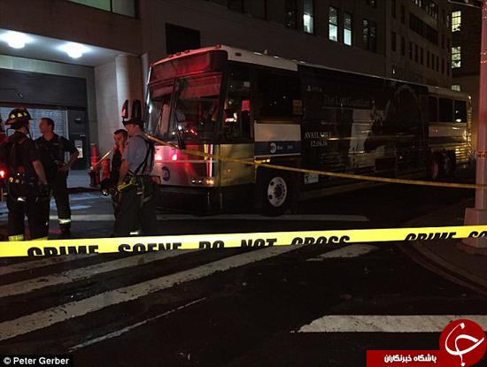 فجیع ترین مرگ یک زن در تصادف با اتوبوس + تصاویر