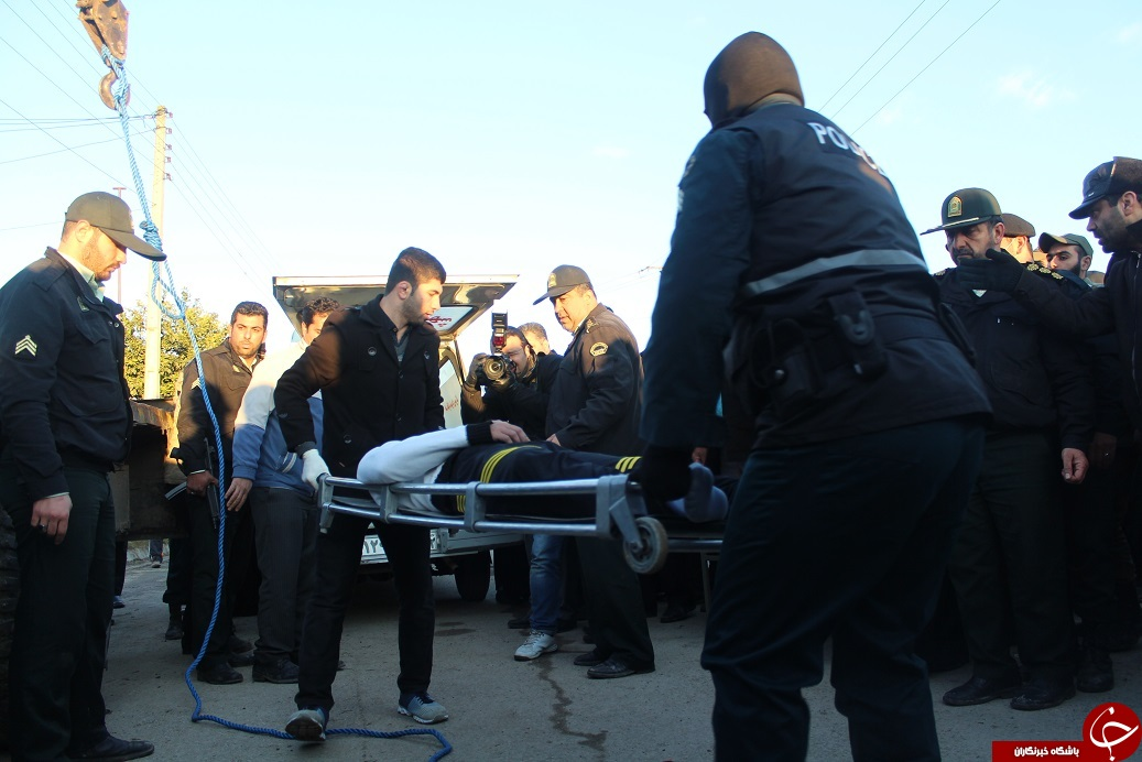 اعدام قاتل بانوی میاندورودی در ملاء عام + تصاویر