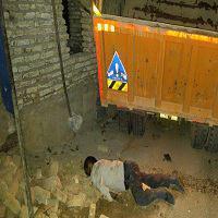 حادثه دلخراش برای راننده ای که کامیون بلای جانش شد + تصاویر