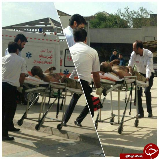 ماجرای خودسوزی مرد میانسال مقابل شورای شهر تهران + عکس