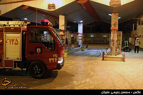 انفجار خونین در پمپ بنزین مشهد + تصاویر