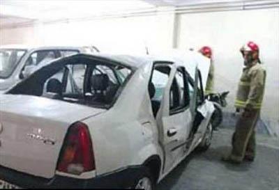 حادثه ای دردناک بر اثر استفاده از اسپری پاک کننده خودرو + عکس