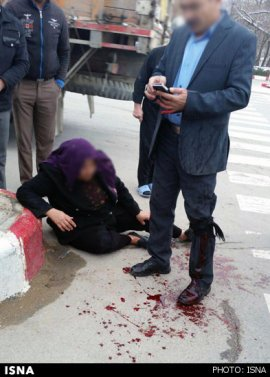 ضرب و جرح خونین با تبر در خیابان بجنورد + عکس