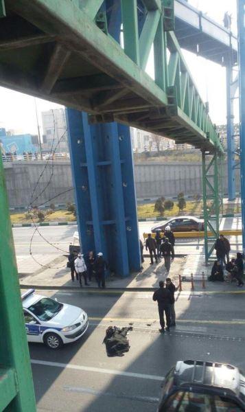 اقدام مرگبار دختر جوان در میدان رسالت + تصاویر