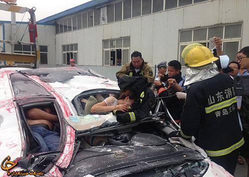 معجزه باور نکردنی در یک حادثه وحشتناک + تصاویر
