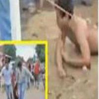 مردم خشمگین عامل تجاوز و قتل دختر ۴ ساله را مجازات کردند + عکس