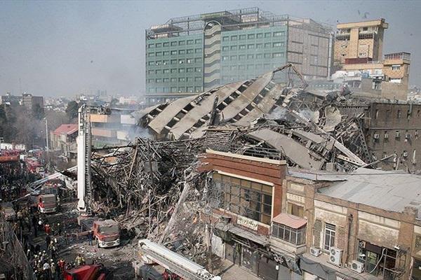 علت ریزش ساختمان پلاسکو